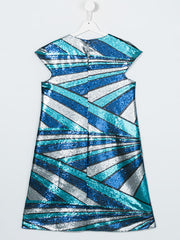 Wave Sequins Halia Flared Dress