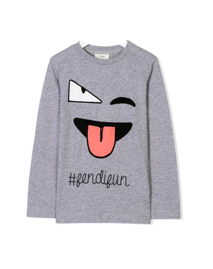 Grey Face Design #Fendifun Tee
