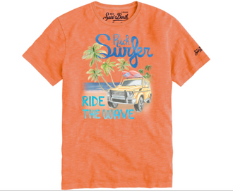 Surfer Wave Orange Tee