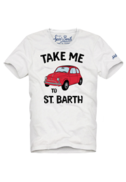 Take Me White Car Tee