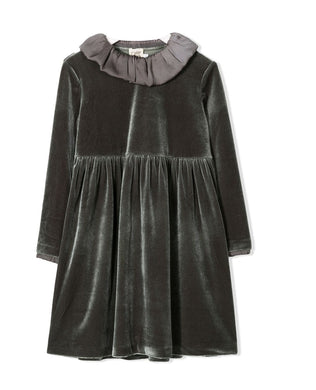 Sage Detachable Collared Dress