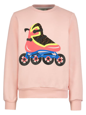 Pink Skate Graphic Sweatshirt
