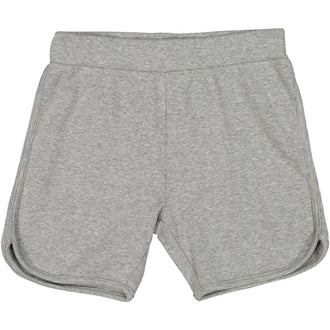 Grey Heather Ribbed Shorts Set