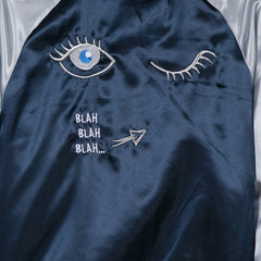 Blue Love 1 Blue Lashes Bomber
