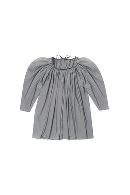 Grey Gathered Top