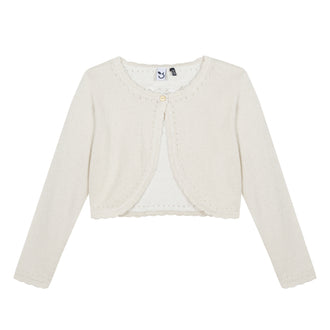 Like A Diamond Gold Knit Bolero