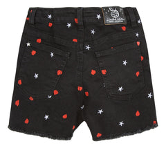 The New Roses Black Jean Shorts