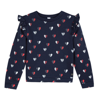 Old School 90s Heart Print Top