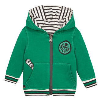 Green With Stripe Reversible Hoodie