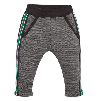 Black With Green Detail Sweatpants