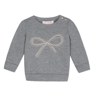 Lili School Grey Bow Sweattop