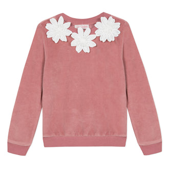 Lili School Vintage Rose Velvet Top