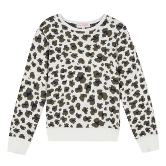 Prairie Girl Khaki Leopard & Knit Sweater