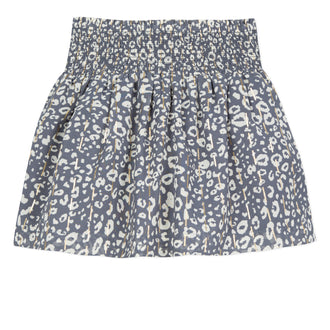 Prairie Girl Navy Leopard Skirt