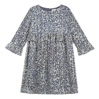 Prairie Girl Navy Leopard Dress