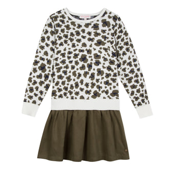 Prairie Girl Khaki Leopard Dress