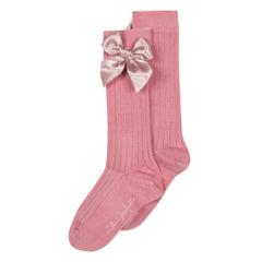 Lili School Vintage Rose Bow Knee Socks