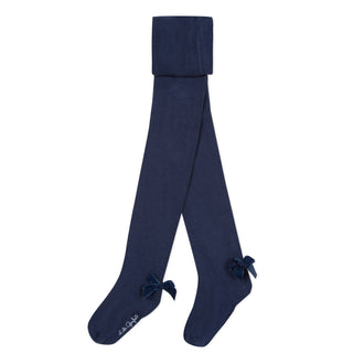 Lili Code Navy Tights With Bows