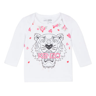 Tiger White Logo Tee