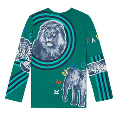 Crazy Jungle Green Tiger Tee