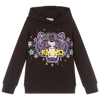 Tiger Black Shooting Star Hooded Sweatshirt