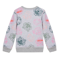 Crazy Jungle Grey Allover Tigers Pullover