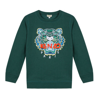 Tiger Dark Green Pullover