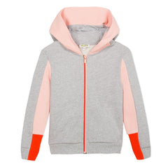 Crazy Jungle Grey Hoodie With Pink Sport Stripe
