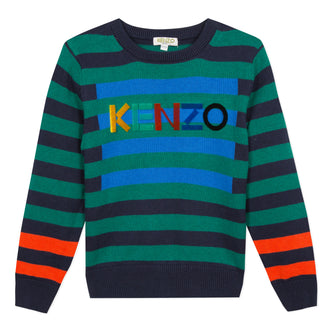 Crazy Jungle Green Stripe Knit Pullover