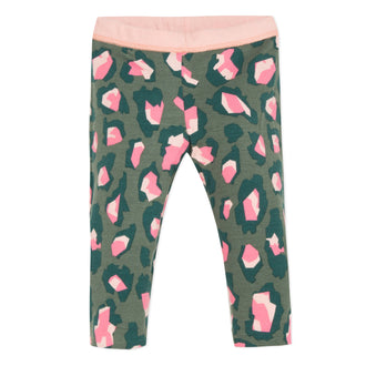Japanese Pink & Khaki Reversible Legging