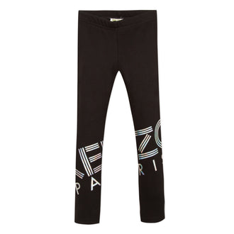 Sport Line Black Legging With Mettalic Logo