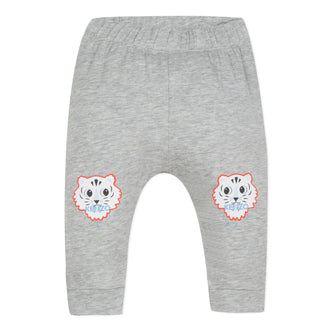Crazy Jungle Grey Baby Tiger Patch Legging