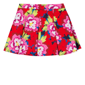 Japanese Navy Floral Print Skirt