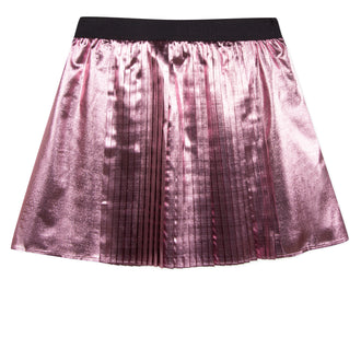 Super Kenzo Pink Mettalic Pleated Skirt