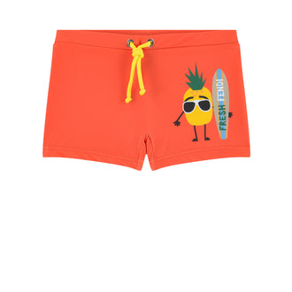 Orange Surfer Pineapple Swimsuit