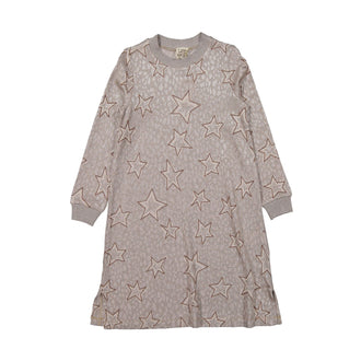 Cleatra Sand Jaquard Stars Dress