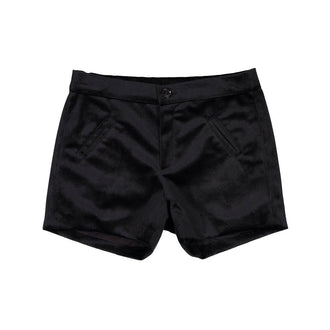 Altair Black Velvet Shorts