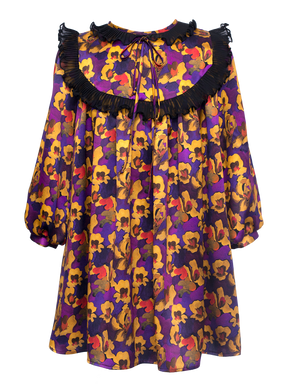 Candence Multi Silk Dress