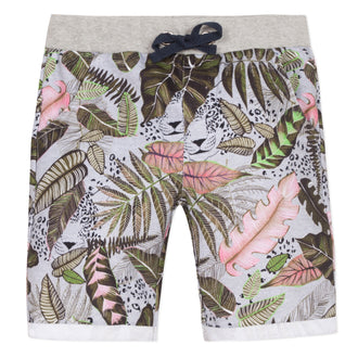 Amazonia Trip Grey Safari Print Shorts