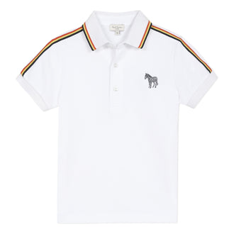 Arty Multi Contrast White Polo