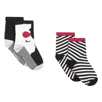 City White With Stripes Socks