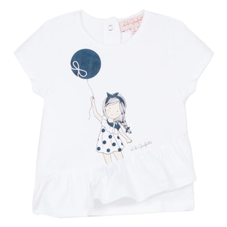 Croisette Guapa White Girl with Balloon Tee