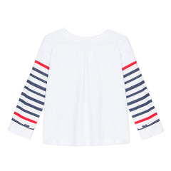 Croisette Guido White With Navy Stripes Paris Tee