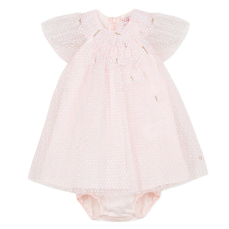 Ceremonie Gazelle Pink Tulle Dress With Bloomer