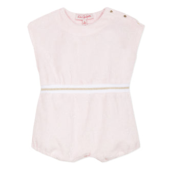 Bain Gastel Pink With Gold Stripe Romper