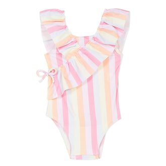 Bain Gourmande Pastel Striped Swimsuit
