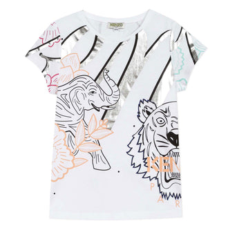 Disco Jungle Janice White Logo Tee