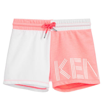 Sport Line Logo White Colorblock Shorts