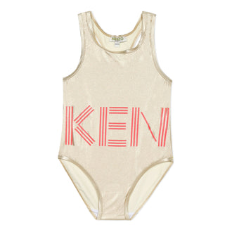 Sport Line Gold Logo Swimsuit