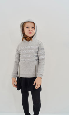 Cargo Grey Sweatshirt Dress